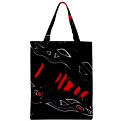 Black and red artistic abstraction Zipper Classic Tote Bag