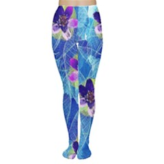 Purple Flowers Tights