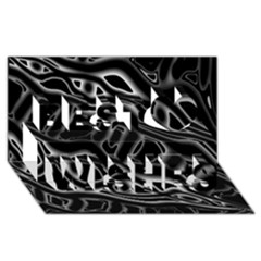 Black and white decorative design Best Wish 3D Greeting Card (8x4)