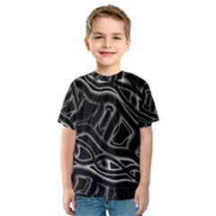 Black and white decorative design Kid s Sport Mesh Tee