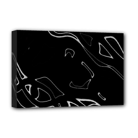 Black and white Deluxe Canvas 18  x 12