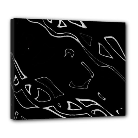 Black and white Deluxe Canvas 24  x 20