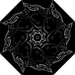 Black and white Hook Handle Umbrellas (Large)