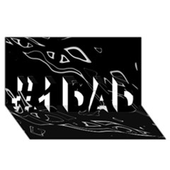 Black and white #1 DAD 3D Greeting Card (8x4)