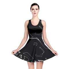 Black and white Reversible Skater Dress