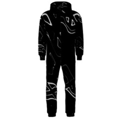 Black and white Hooded Jumpsuit (Men)