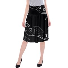 Black And White Midi Beach Skirt