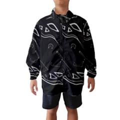 Black and white Wind Breaker (Kids)