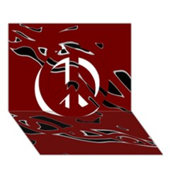 Decorative abstract art Peace Sign 3D Greeting Card (7x5)