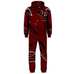 Decorative abstract art Hooded Jumpsuit (Men)