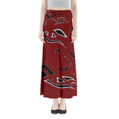 Decorative Abstract Art Maxi Skirts