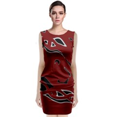 Decorative Abstract Art Classic Sleeveless Midi Dress