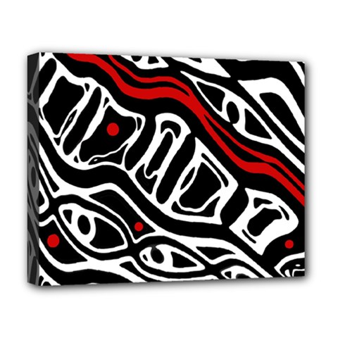 Red, black and white abstract art Deluxe Canvas 20  x 16