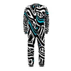 Blue, black and white abstract art OnePiece Jumpsuit (Kids)