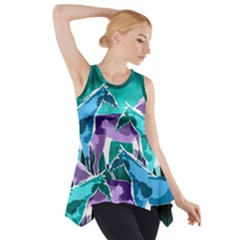 Horses Under A Galaxy Side Drop Tank Tunic