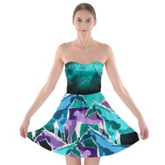Horses Under A Galaxy Strapless Bra Top Dress