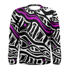 Purple, black and white abstract art Men s Long Sleeve Tee