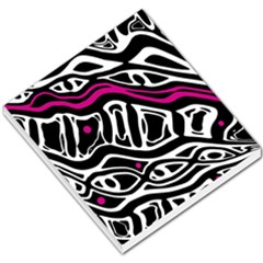 Magenta, black and white abstract art Small Memo Pads