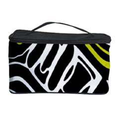 Yellow, black and white abstract art Cosmetic Storage Case