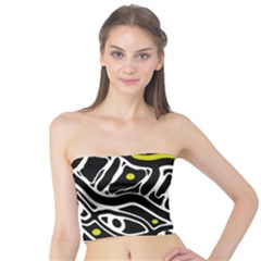 Yellow, black and white abstract art Tube Top