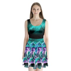 Galaxy Split Back Mini Dress