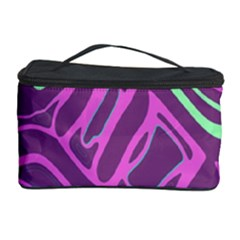 Purple and green abstract art Cosmetic Storage Case