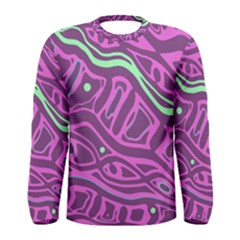 Purple and green abstract art Men s Long Sleeve Tee