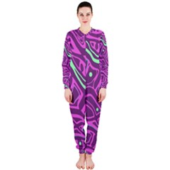Purple and green abstract art OnePiece Jumpsuit (Ladies)