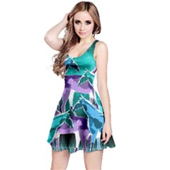 Horses Under A Galaxy Reversible Sleeveless Dress
