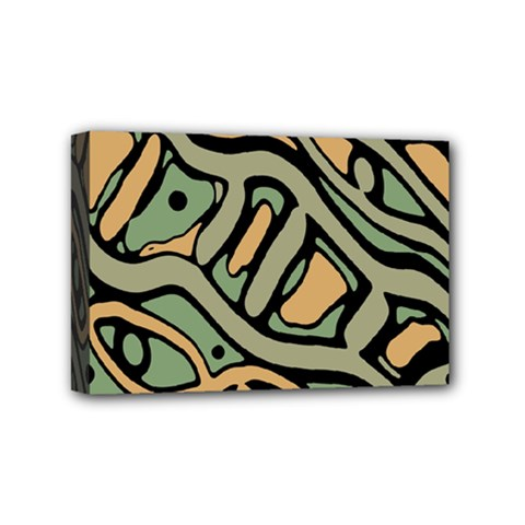 Green abstract art Mini Canvas 6  x 4