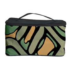 Green abstract art Cosmetic Storage Case