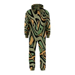 Green abstract art Hooded Jumpsuit (Kids)