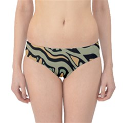 Green abstract art Hipster Bikini Bottoms