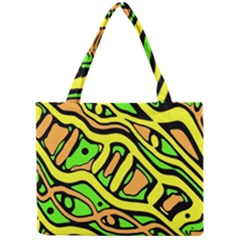 Yellow, green and oragne abstract art Mini Tote Bag