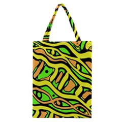 Yellow, green and oragne abstract art Classic Tote Bag