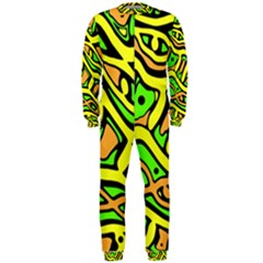 Yellow, green and oragne abstract art OnePiece Jumpsuit (Men)