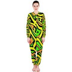Yellow, green and oragne abstract art OnePiece Jumpsuit (Ladies)