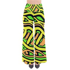 Yellow, green and oragne abstract art Pants