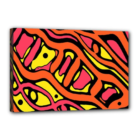 Orange hot abstract art Canvas 18  x 12