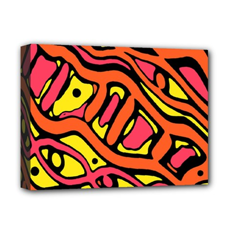 Orange hot abstract art Deluxe Canvas 16  x 12