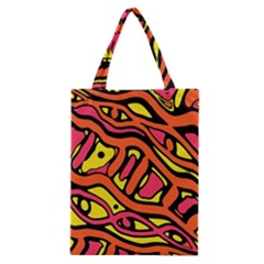 Orange hot abstract art Classic Tote Bag