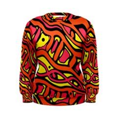 Orange hot abstract art Women s Sweatshirt