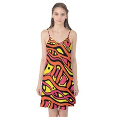 Orange hot abstract art Camis Nightgown