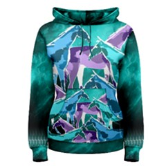 Horses Under A Galaxy Women s Pullover Hoodie