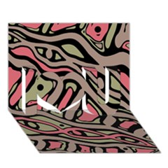 Decorative abstract art I Love You 3D Greeting Card (7x5)