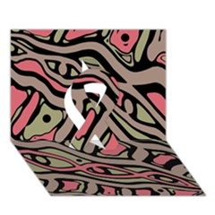 Decorative abstract art Ribbon 3D Greeting Card (7x5)