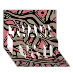 Decorative abstract art THANK YOU 3D Greeting Card (7x5)