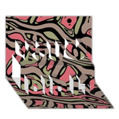 Decorative abstract art You Did It 3D Greeting Card (7x5)