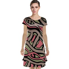 Decorative abstract art Cap Sleeve Nightdress