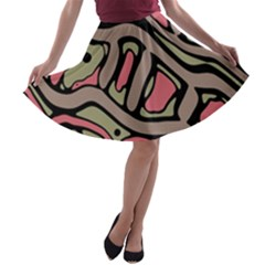 Decorative abstract art A-line Skater Skirt